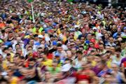 29 October 2017; A general view of a section of the 20,000 runners who took to the Fitzwilliam Square start line to participate in the 38th running of the SSE Airtricity Dublin Marathon, making it the fifth largest marathon in Europe. Photo by Ramsey Cardy/Sportsfile