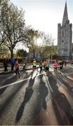 29 October 2017; A general view of runners making their way past St Patrick's Cathedral during the SSE Airtricity Dublin Marathon 2017 in Dublin City. 20,000 runners took to the Fitzwilliam Square start line to participate in the 38th running of the SSE Airtricity Dublin Marathon, making it the fifth largest marathon in Europe. Photo by Cody Glenn/Sportsfile