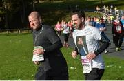 29 October 2017; Shamrock Rovers manager Stephen Bradley, right, makes his way through the Phoenix Park during the SSE Airtricity Dublin Marathon 2017 in Dublin City. 20,000 runners took to the Fitzwilliam Square start line to participate in the 38th running of the SSE Airtricity Dublin Marathon, making it the fifth largest marathon in Europe. Photo by Piaras Ó Mídheach/Sportsfile
