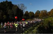 29 October 2017; A general view of runners making their way through Pheonix Park during the SSE Airtricity Dublin Marathon 2017. 20,000 runners took to the Fitzwilliam Square start line to participate in the 38th running of the SSE Airtricity Dublin Marathon, making it the fifth largest marathon in Europe. Photo by David Fitzgerald/Sportsfile