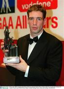 29 November 2002; Armagh captain Kieran McGeeney pictured with his Players' Player of the Year Award at the VODAFONE All-Star Awards at the CityWest Hotel, Dublin. Football. Hurling. Picture credit; Ray McManus / SPORTSFILE