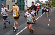 29 October 2017; Karle Farquhar, from Cookstown, who was running the race backwords makes his way onto South Circular Road during the SSE Airtricity Dublin Marathon 2017. 20,000 runners took to the Fitzwilliam Square start line to participate in the 38th running of the SSE Airtricity Dublin Marathon, making it the fifth largest marathon in Europe. Photo by David Fitzgerald/Sportsfile