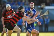 29 October 2017; Aidan McCormack of Thurles Sarsfields in action against Philip Mahony of Ballygunner during the AIB Munster GAA Hurling Senior Club Championship Quarter-Final match between Ballygunner and Thurles Sarsfields at Walsh Park in Waterford. Photo by Diarmuid Greene/Sportsfile