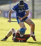 29 October 2017; Aidan McCormack of Thurles Sarsfields in action against David O'Sullivan of Ballygunner during the AIB Munster GAA Hurling Senior Club Championship Quarter-Final match between Ballygunner and Thurles Sarsfields at Walsh Park in Waterford. Photo by Diarmuid Greene/Sportsfile
