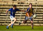 29 October 2017 ;Patrick McBrearty of Kilcar in action against Emmet Caulfield of Scotstown during the AIB Ulster GAA Football Senior Club Championship Quarter-Final match between Scotstown and Kilcar at St Tiernach's Park, Clones in Monaghan. Photo by Philip Fitzpatrick/Sportsfile