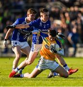 29 October 2017; Ryan McHugh of Kilcar in action against Sean Mohan of Scotstown during the AIB Ulster GAA Football Senior Club Championship Quarter-Final match between Scotstown and Kilcar at St Tiernach's Park, Clones in Monaghan. Photo by Philip Fitzpatrick/Sportsfile