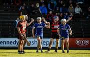 29 October 2017; Ronan Maher and Michael Cahill of Thurles Sarsfields celebrate after their side were awarded a free during the AIB Munster GAA Hurling Senior Club Championship Quarter-Final match between Ballygunner and Thurles Sarsfields at Walsh Park in Waterford. Photo by Diarmuid Greene/Sportsfile