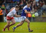 29 October 2017; Barry Fortune of Cavan Gaels in action against Padraig Mervyn of Lamh Dhearg during the AIB Ulster GAA Football Senior Club Championship Quarter-Final match between Cavan Gaels and Lamh Dhearg at Kingspan Breffni in Cavan. Photo by Oliver McVeigh/Sportsfile