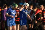 29 October 2017; Stephen Cahill, left, and Michael Cahill of Thurles Sarsfields react after the AIB Munster GAA Hurling Senior Club Championship Quarter-Final match between Ballygunner and Thurles Sarsfields at Walsh Park in Waterford. Photo by Diarmuid Greene/Sportsfile
