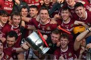 29 October 2017; Dicksboro's Cillian Buckley, 6, and his team mates with the Tom Walsh Cup, leads the celebrations after the Kilkenny County Senior Hurling Championship Final match between Dicksboro and James Stephens at Nowlan Park in Kilkenny. Photo by Ray McManus/Sportsfile