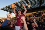 29 October 2017; The Dicksboro captain Ollie Walsh celebrates with supporters and the Tom Walsh Cup celebrate after the Kilkenny County Senior Hurling Championship Final match between Dicksboro and James Stephens at Nowlan Park in Kilkenny. Photo by Ray McManus/Sportsfile