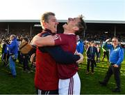 29 October 2017; Cillian Buckley of Dicksboro celebrates with team physio Tommy Bawle after the Kilkenny County Senior Hurling Championship Final match between Dicksboro and James Stephens at Nowlan Park in Kilkenny. Photo by Ray McManus/Sportsfile