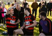 29 October 2017; Shane O'Sullivan, left, and Barry Coughlin of Ballygunner are congratulated by a supporter after the AIB Munster GAA Hurling Senior Club Championship Quarter-Final match between Ballygunner and Thurles Sarsfields at Walsh Park in Waterford. Photo by Diarmuid Greene/Sportsfile