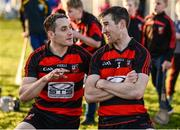29 October 2017; Shane O'Sullivan, left, and Barry Coughlin of Ballygunner in conversation after the AIB Munster GAA Hurling Senior Club Championship Quarter-Final match between Ballygunner and Thurles Sarsfields at Walsh Park in Waterford. Photo by Diarmuid Greene/Sportsfile