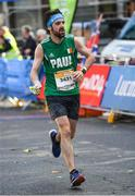 29 October 2017; Paul Brophy, from Tullow, Co. Carlow, competing during the SSE Airtricity Dublin Marathon, where 20,000 runners who took to the Fitzwilliam Square start line to participate in the 38th running of the SSE Airtricity Dublin Marathon, making it the fifth largest marathon in Europe. Photo by Ramsey Cardy/Sportsfile