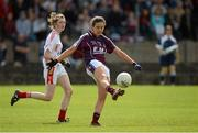 25 August 2012; Megan Heneghan, Galway, in action against Cork. All Ireland U16 'A' Championship Final, Cork v Galway, MacDonagh Park, Nenagh, Co. Tipperary. Picture credit: Matt Browne / SPORTSFILE