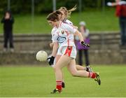 25 August 2012; Marie Ambrose, Cork, in action against Galway. All Ireland U16 'A' Championship Final, Cork v Galway, MacDonagh Park, Nenagh, Co. Tipperary. Picture credit: Matt Browne / SPORTSFILE