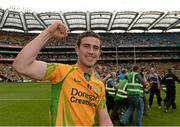 26 August 2012; Patrick McBrearty celebrates the Donegal win. GAA Football All-Ireland Senior Championship Semi-Final, Cork v Donegal, Croke Park, Dublin. Picture credit: Ray McManus / SPORTSFILE
