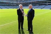 29 August 2012; Dublin's Mickey Whelan who was inducted into the Kick Fada Hall of Fame with past recipient Billy Morgan, Cork, left. Kick Fada Hall of Fame, Croke Park, Dublin. Picture credit: Stephen McCarthy / SPORTSFILE