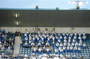 31 August 2012; The Notre Dame High School Band perform during the game. Global Ireland Football Tournament 2012, Notre Dame High School, Sherman Oaks, California v Hamilton High School, Chandler, Arizona. Parnell Park, Dublin. Picture credit: Brendan Moran / SPORTSFILE