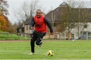 30 October 2017; Simon Zebo of Munster plays soccer during Munster Rugby Squad Training at the University of Limerick in Limerick. Photo by Diarmuid Greene/Sportsfile