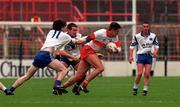 National League Football semi-final, Derry v Monaghan, Croke Park. 12/4/98. Derry's Anthony Tohill gets away from the attentions of Monaghan's Mark Daly. Photograph © Ray Lohan SPORTSFILE.