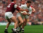27 September 1998; Brian Murphy of Kildare in action against Tomás Mannion of Galway during the All-Ireland Senior Football Final match between Galway and Kildare at Croke Park in Dublin. Photo by Matt Browne/Sportsfile