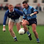 Dublin v Cavan 30/11/1997, parnell Park.  Martin Barnes, Dublin, right, and Dermot McCabe, Cavan. Photograph Ray McManus SPORTSFILE