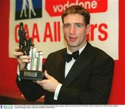 29 November 2002; Kieran McGeeney, Armagh pictured with his players, player of the year award at the VODAFONE All-Star Awards at the CityWest Hotel, Dublin. Football. Hurling. Picture credit; Ray McManus / SPORTSFILE