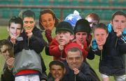 11 December 2002; The eleven nominees for this year's RTE/Hibernian Sports Personality of the Year are from left Kieran McGeeney, Sam Lynch, Ronan O'Gara, Sonia O'Sullivan, Padraig Harrington, Dermot Lennon, Paul McGinley, Tony McCoy, Henry Shefflin, Damien Duff and Robbie Keane. The over winner will be announced on the 3rd January 2003. Picture credit; Matt Browne / SPORTSFILE *EDI*