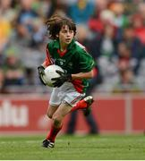 23 September 2012; Oisin Mullin, Roundfort N.S., Hollymount, Co. Mayo, representing Mayo, during the INTO/RESPECT Exhibition GoGames at the GAA Football All-Ireland Senior Championship Final between Donegal and Mayo. Croke Park, Dublin. Picture credit: Paul Mohan / SPORTSFILE