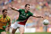 23 September 2012;  Cillian O'Connor, Mayo, in action against Eamon McGee, Donegal. GAA Football All-Ireland Senior Championship Final, Donegal v Mayo, Croke Park, Dublin. Picture credit: David Maher / SPORTSFILE