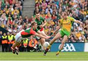 23 September 2012; Neil Gallagher, Donegal, in action against Aidan O'Shea, Mayo. GAA Football All-Ireland Senior Championship Final, Donegal v Mayo, Croke Park, Dublin. Picture credit: Oliver McVeigh / SPORTSFILE