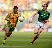 23 September 2012; Frank McGlynn, Donegal, in action against Donal Vaughan, Mayo. GAA Football All-Ireland Senior Championship Final, Donegal v Mayo, Croke Park, Dublin. Picture credit: David Maher / SPORTSFILE