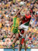 23 September 2012; Michael Murphy, Donegal, in action against David Clarke, Mayo. GAA Football All-Ireland Senior Championship Final, Donegal v Mayo, Croke Park, Dublin. Picture credit: David Maher / SPORTSFILE