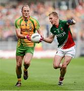 23 September 2012; Colm McFadden, Donegal, in action against Kevin Keane, Mayo. GAA Football All-Ireland Senior Championship Final, Donegal v Mayo, Croke Park, Dublin. Picture credit: David Maher / SPORTSFILE