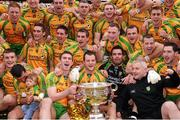 23 September 2012; Donegal players and backroom staff celebrate with the Sam Maguire Cup. GAA Football All-Ireland Senior Championship Final, Donegal v Mayo, Croke Park, Dublin. Picture credit: David Maher / SPORTSFILE