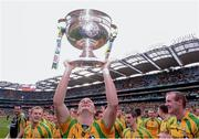 23 September 2012; Colm McFadden, Donegal, celebrates with the Sam Maguire Cup. GAA Football All-Ireland Senior Championship Final, Donegal v Mayo, Croke Park, Dublin. Picture credit: David Maher / SPORTSFILE