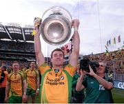 23 September 2012; Eamon McGee, Donegal, celebrates with the Sam Maguire Cup. GAA Football All-Ireland Senior Championship Final, Donegal v Mayo, Croke Park, Dublin. Picture credit: David Maher / SPORTSFILE