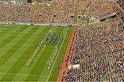23 September 2012; The Donegal and Mayo teams march behind the Artane Band during the pre-match parade. GAA Football All-Ireland Senior Championship Final, Donegal v Mayo, Croke Park, Dublin. Picture credit: Brendan Moran / SPORTSFILE