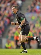 23 September 2012; Maurice Deegan, referee. GAA Football All-Ireland Senior Championship Final, Donegal v Mayo, Croke Park, Dublin. Picture credit: Brendan Moran / SPORTSFILE
