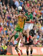23 September 2012; Rory Kavanagh, Donegal, in action against Jason Gibbons, Mayo. GAA Football All-Ireland Senior Championship Final, Donegal v Mayo, Croke Park, Dublin. Picture credit: Oliver McVeigh / SPORTSFILE