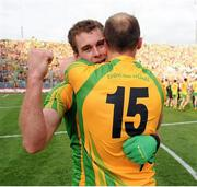 23 September 2012; Eamon McGee and Colm McFadden, Donegal, celebrate after the game. GAA Football All-Ireland Senior Championship Final, Donegal v Mayo, Croke Park, Dublin. Picture credit: Oliver McVeigh / SPORTSFILE