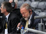 23 September 2012; Stadium announcer Jerry Grogan. GAA Football All-Ireland Senior Championship Final, Donegal v Mayo, Croke Park, Dublin. Picture credit: Oliver McVeigh / SPORTSFILE