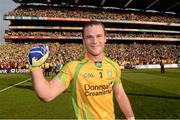 23 September 2012; Donegal's Neil McGee celebrates after the game. GAA Football All-Ireland Senior Championship Final, Donegal v Mayo, Croke Park, Dublin. Picture credit: Ray McManus / SPORTSFILE