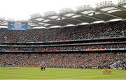 23 September 2012; The Donegal and Mayo teams stand for a minute silence before the game. GAA Football All-Ireland Senior Championship Final, Donegal v Mayo, Croke Park, Dublin. Picture credit: Ray McManus / SPORTSFILE