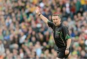 23 September 2012; Referee Maurice Deegan. GAA Football All-Ireland Senior Championship Final, Donegal v Mayo, Croke Park, Dublin. Picture credit: Ray McManus / SPORTSFILE
