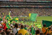 23 September 2012; The Artane Band lead the Mayo and Donegal teams on the pre-match parade. GAA Football All-Ireland Senior Championship Final, Donegal v Mayo, Croke Park, Dublin. Picture credit: Ray McManus / SPORTSFILE