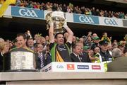 23 September 2012; Paul Durcan, Donegal, lifts the Sam Maguire Cup. GAA Football All-Ireland Senior Championship Final, Donegal v Mayo, Croke Park, Dublin. Picture credit: Ray McManus / SPORTSFILE