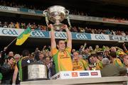 23 September 2012; Paddy McGrath, Donegal, lifts the Sam Maguire Cup. GAA Football All-Ireland Senior Championship Final, Donegal v Mayo, Croke Park, Dublin. Picture credit: Ray McManus / SPORTSFILE